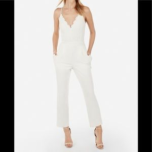 NWT Express Ivory Lace Jumpsuit XS